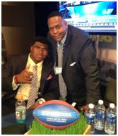 Deryk Gilmore with OT San Diego Chargers DJ Fluker