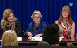 Paula DiPerna at the Whitehouse discussing CDP's role in mainstreaming climate change into finance
