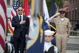 Robert Irvine Navy Ceremony