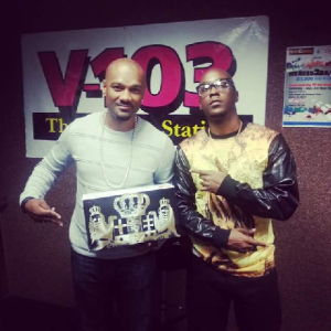 Hasan Yates with Big Tigger of V103